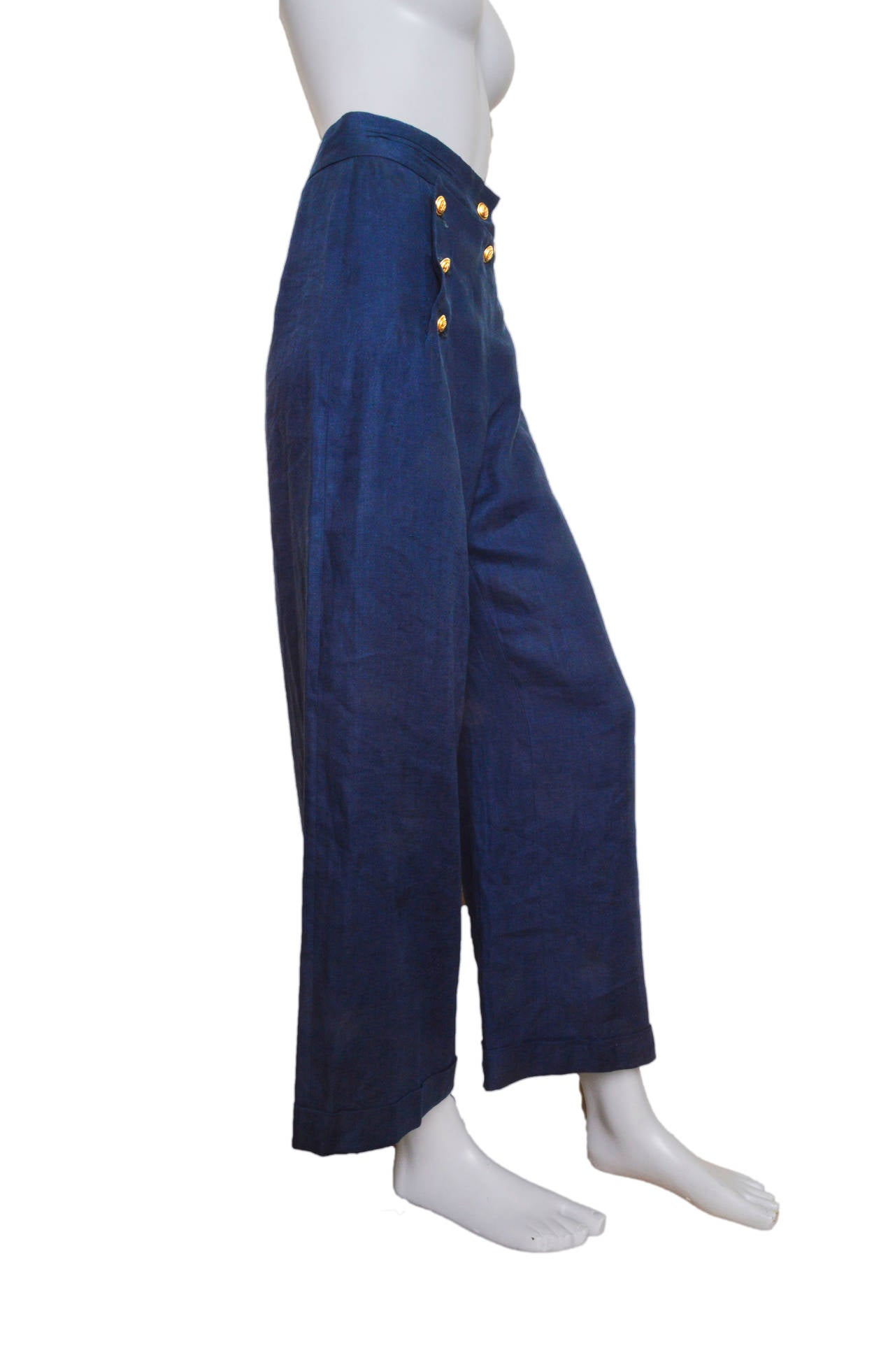 Moschino Couture Cruise Me Baby Navy Sailor Pants At