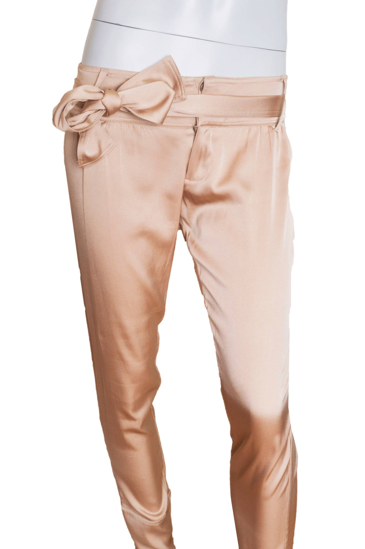Luxurious silk Gucci trousers.