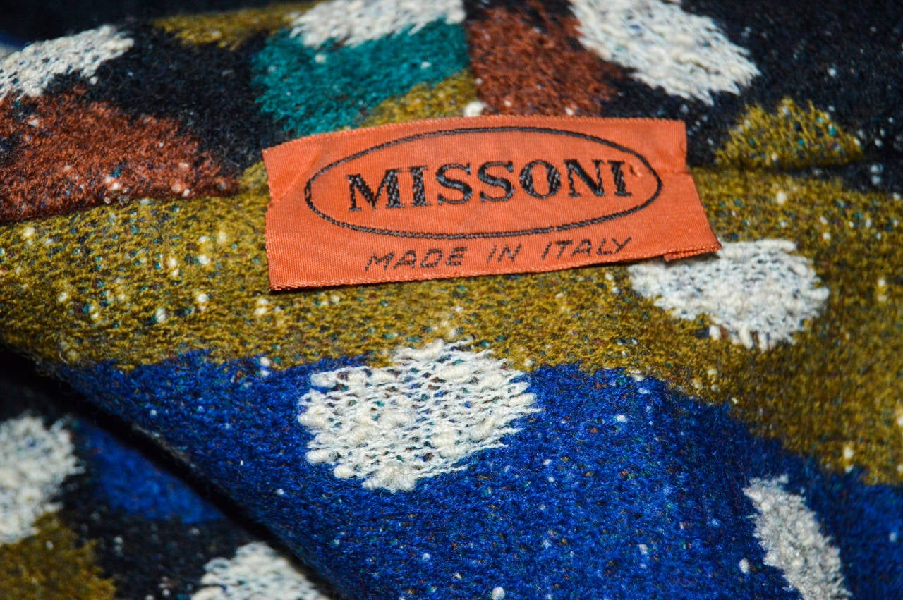 Women's Missoni Wool Abstract Spotted Blazer Coat For Sale