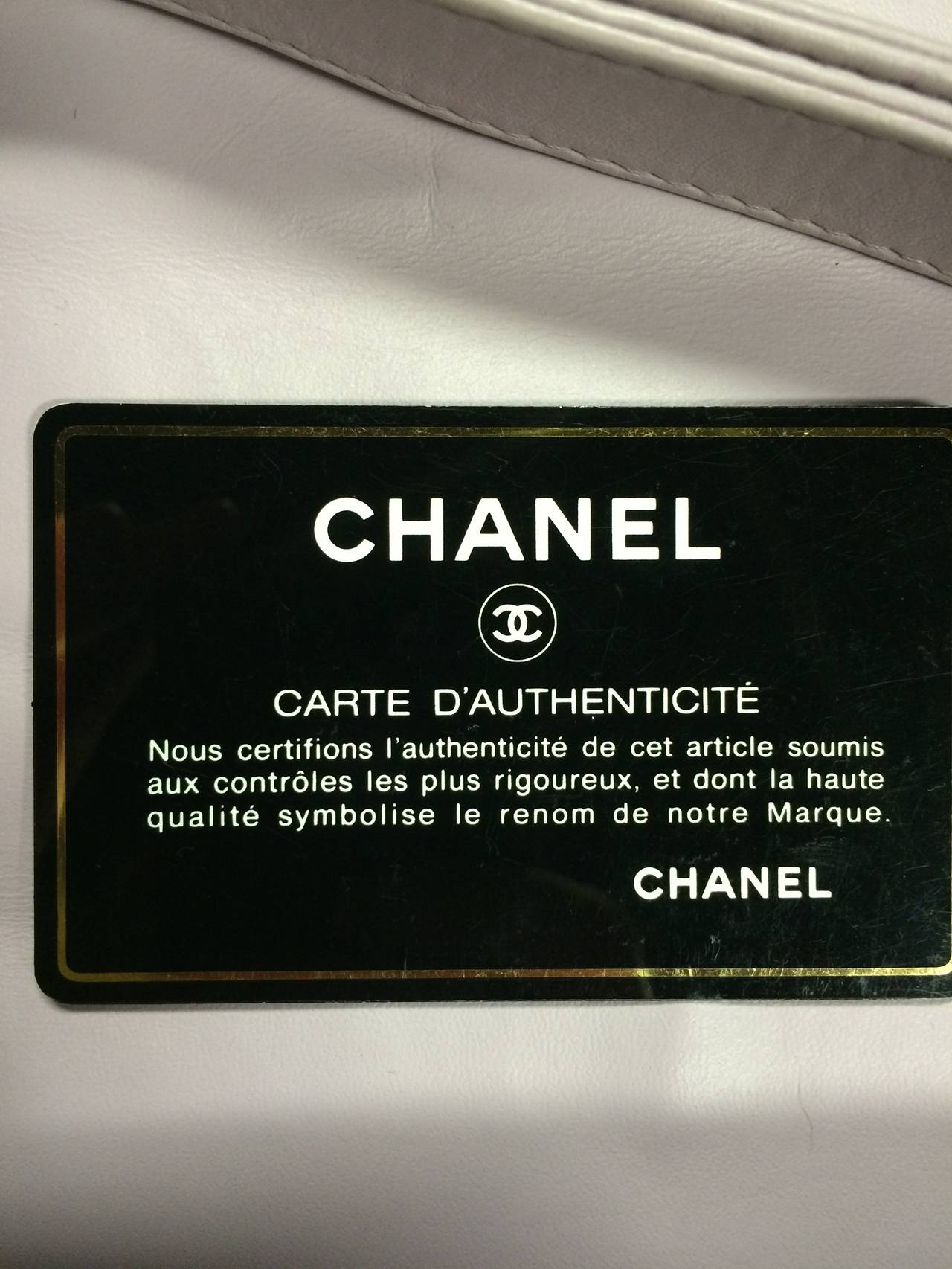 Chanel Cc Lilac Leather Quilted Handbag For Sale 1