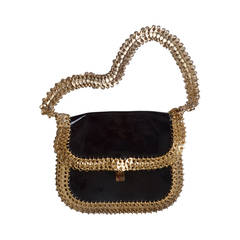 vintage 80's chloe purse with multi beaded details at 1stdibs