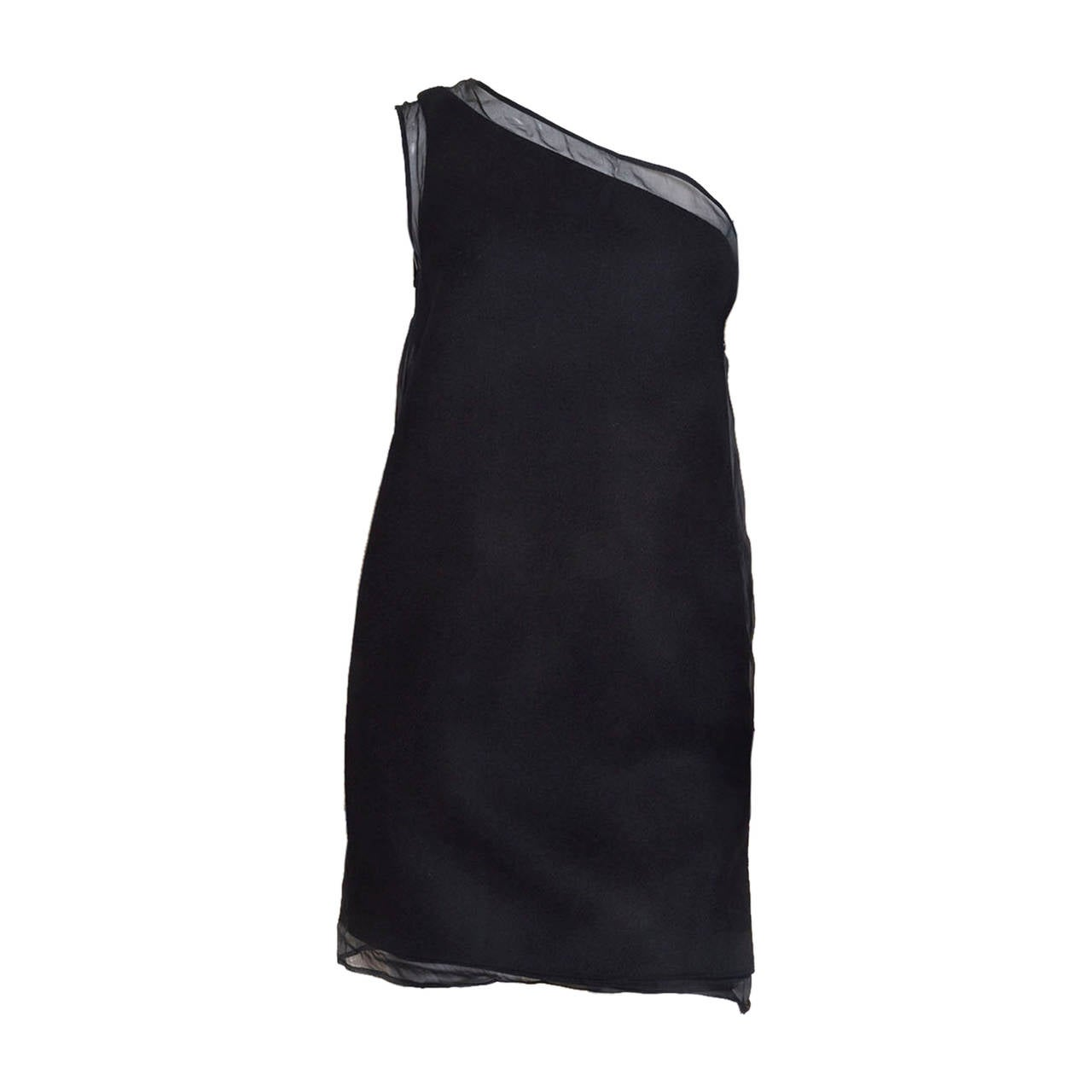 Stella McCartney Black One Shoulder Dress