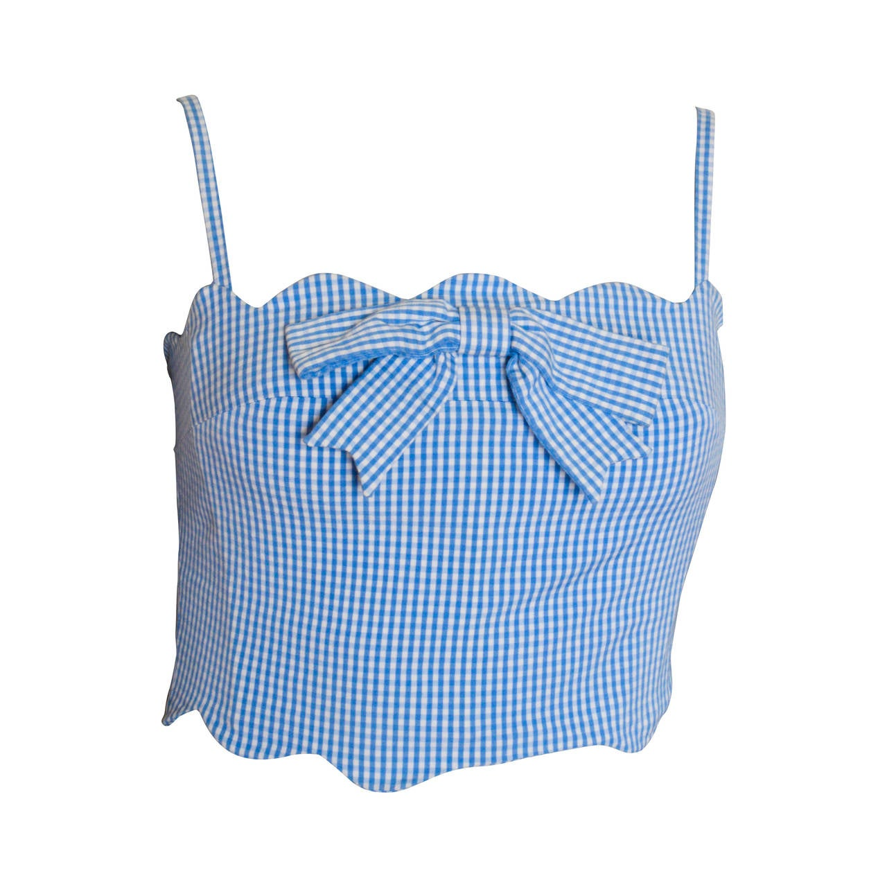 Moschino Cheap & Chic Gingham Bustier Top 1