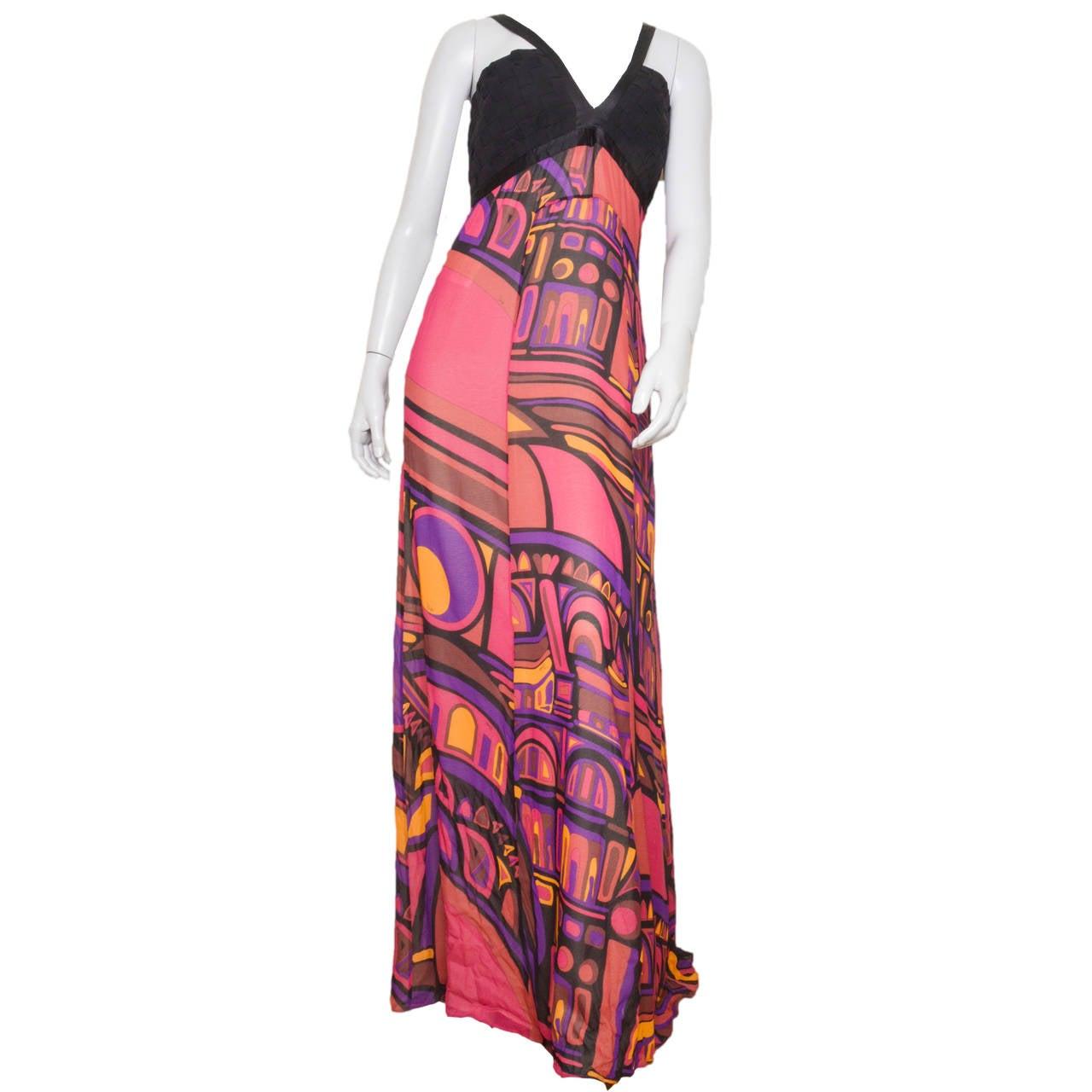 Emilio Pucci Silk Crepe Gown