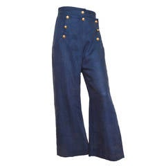 "Moschino Couture! ""Cruise Me Baby"" Navy Sailor Pants"