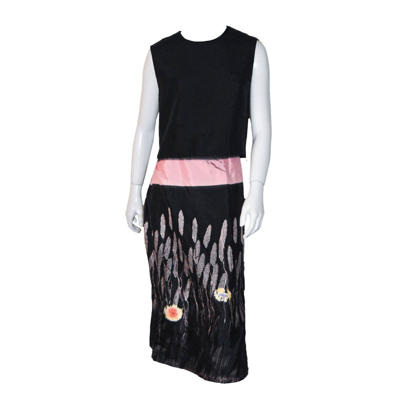 Prada 2 Piece Printed Skirt & Top Set