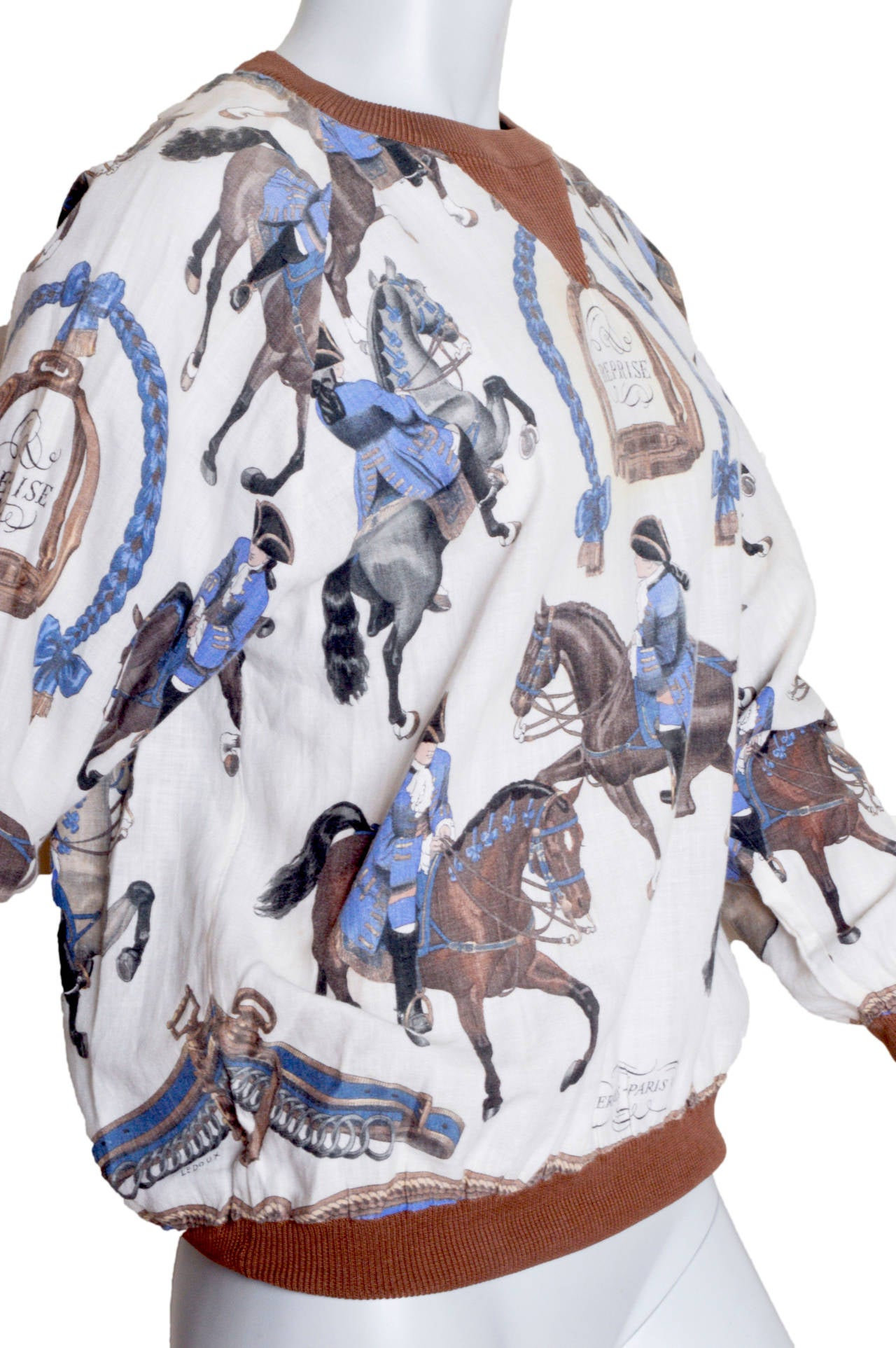 Hermes Equestrian Scarf Print Blouse 3