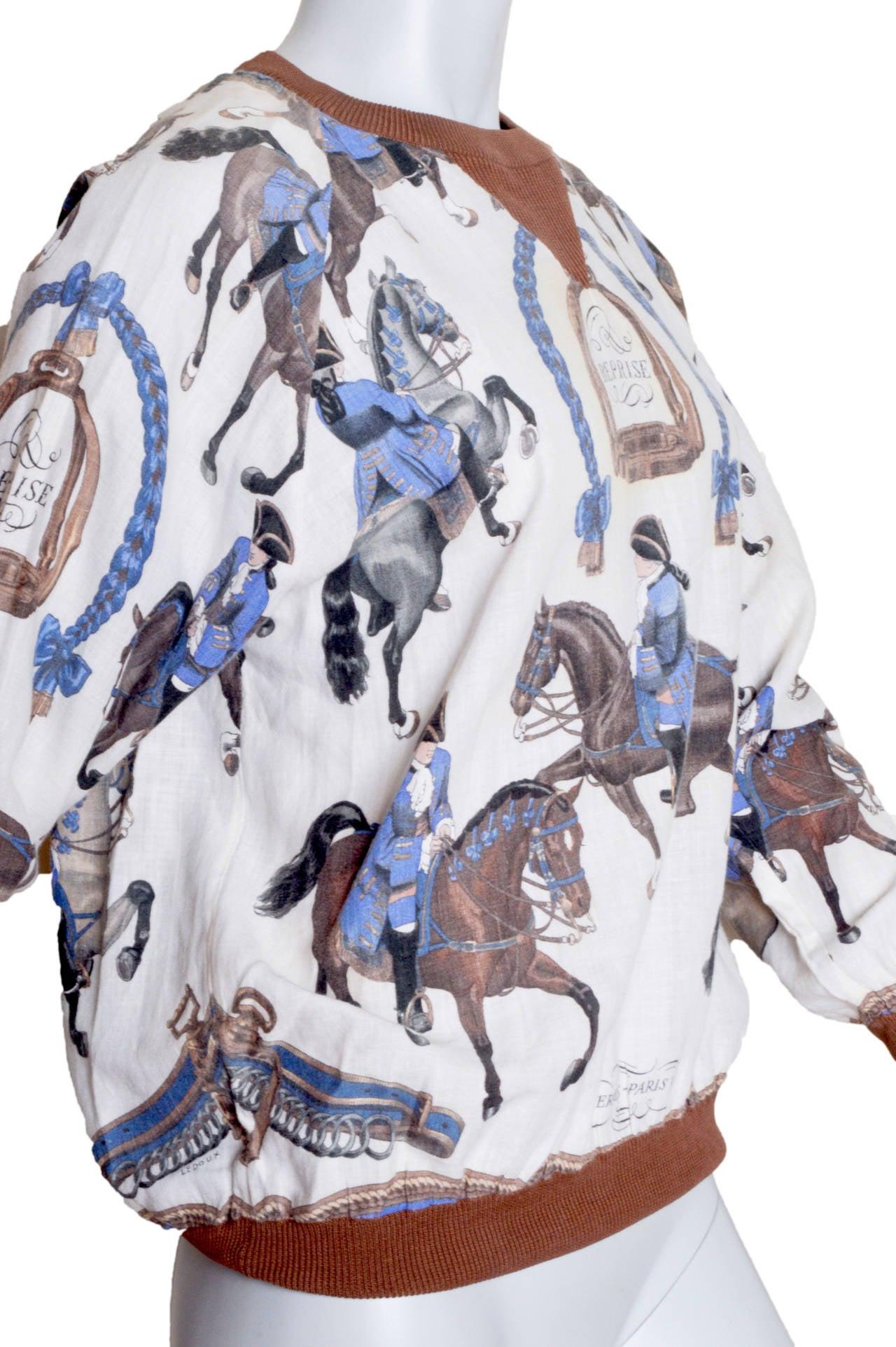 Hermes Equestrian Scarf Print Blouse 3