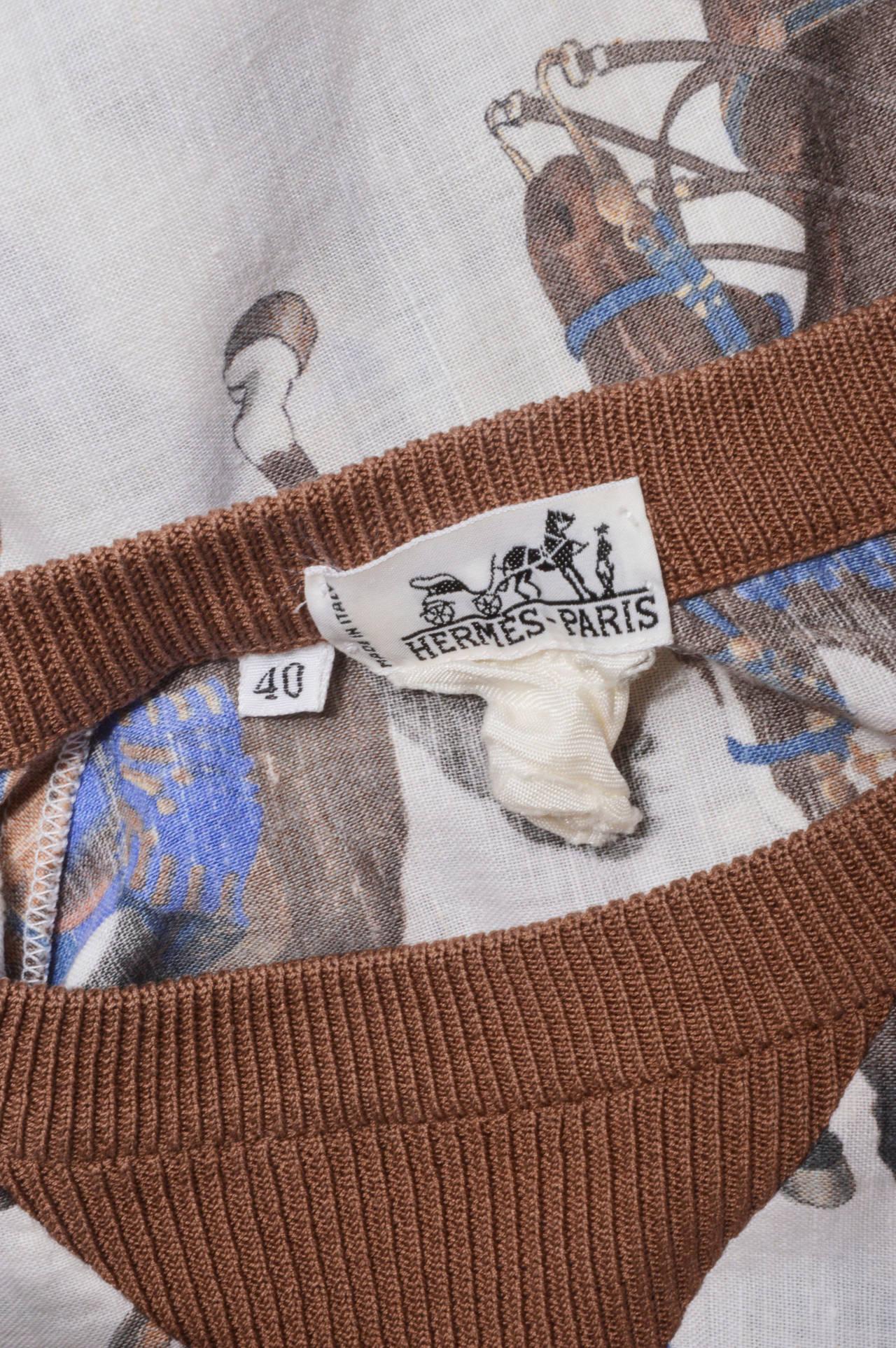 Hermes Equestrian Scarf Print Blouse 5