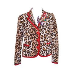 Moschino Cheap & Chic Leopard Print Jacket