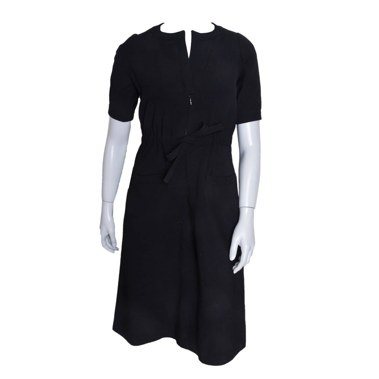 Courreges Hyperbole Classic Black Dress