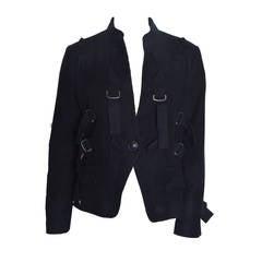 Issey Miyake Black Parachute Bondage Straps & Buckles Jacket