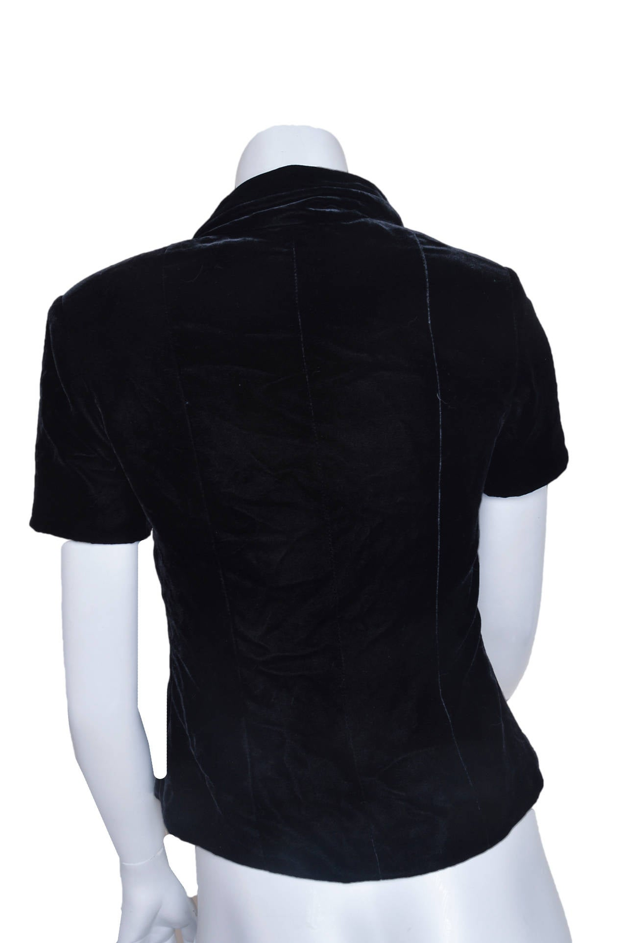 Chanel Boutique Black Velvet Formal Top 3