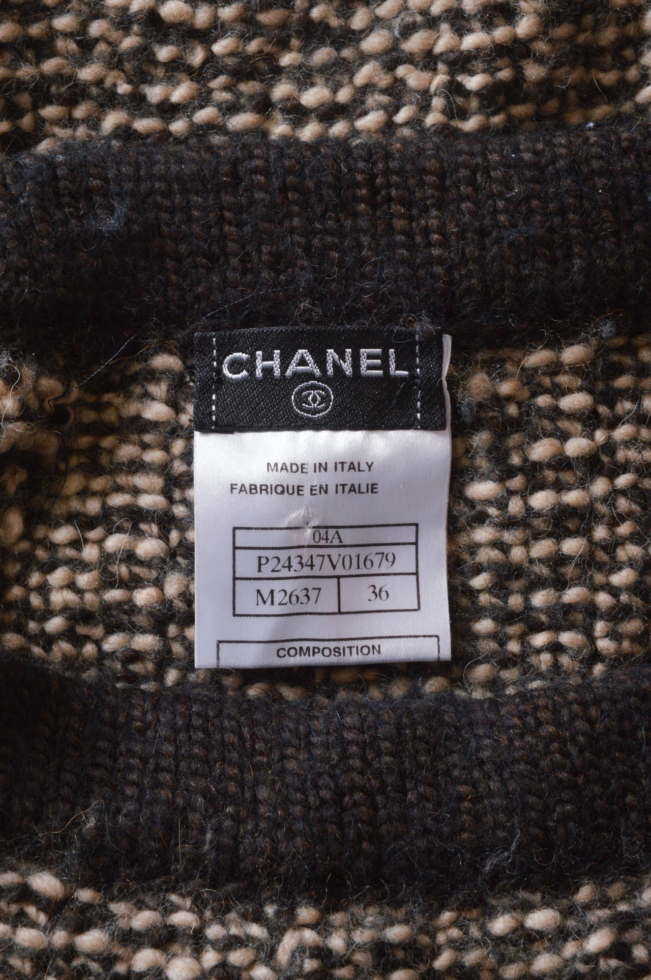 Chanel Woven Knit Skirt with Crochet Trim 5