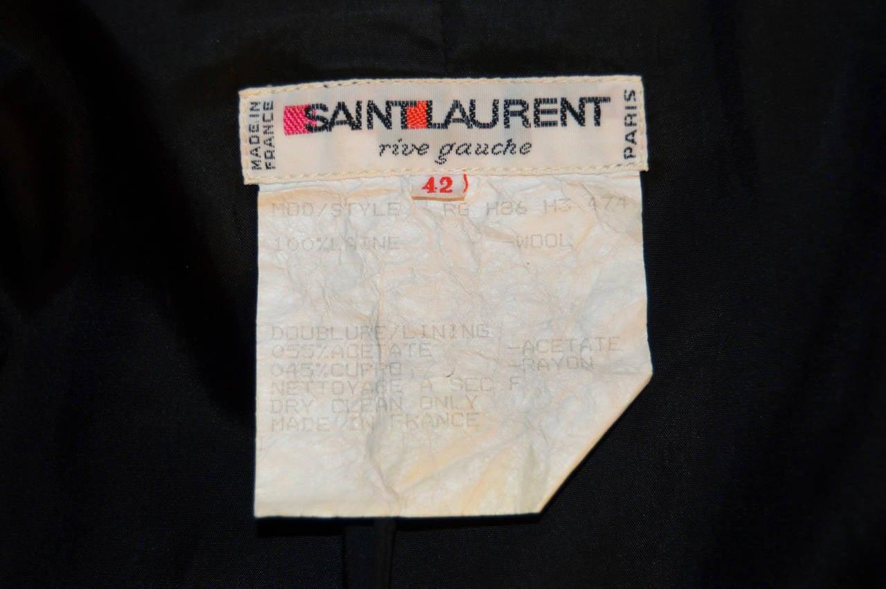 Women's Yves Saint Laurent Rive Gauche Gold Button Coat For Sale
