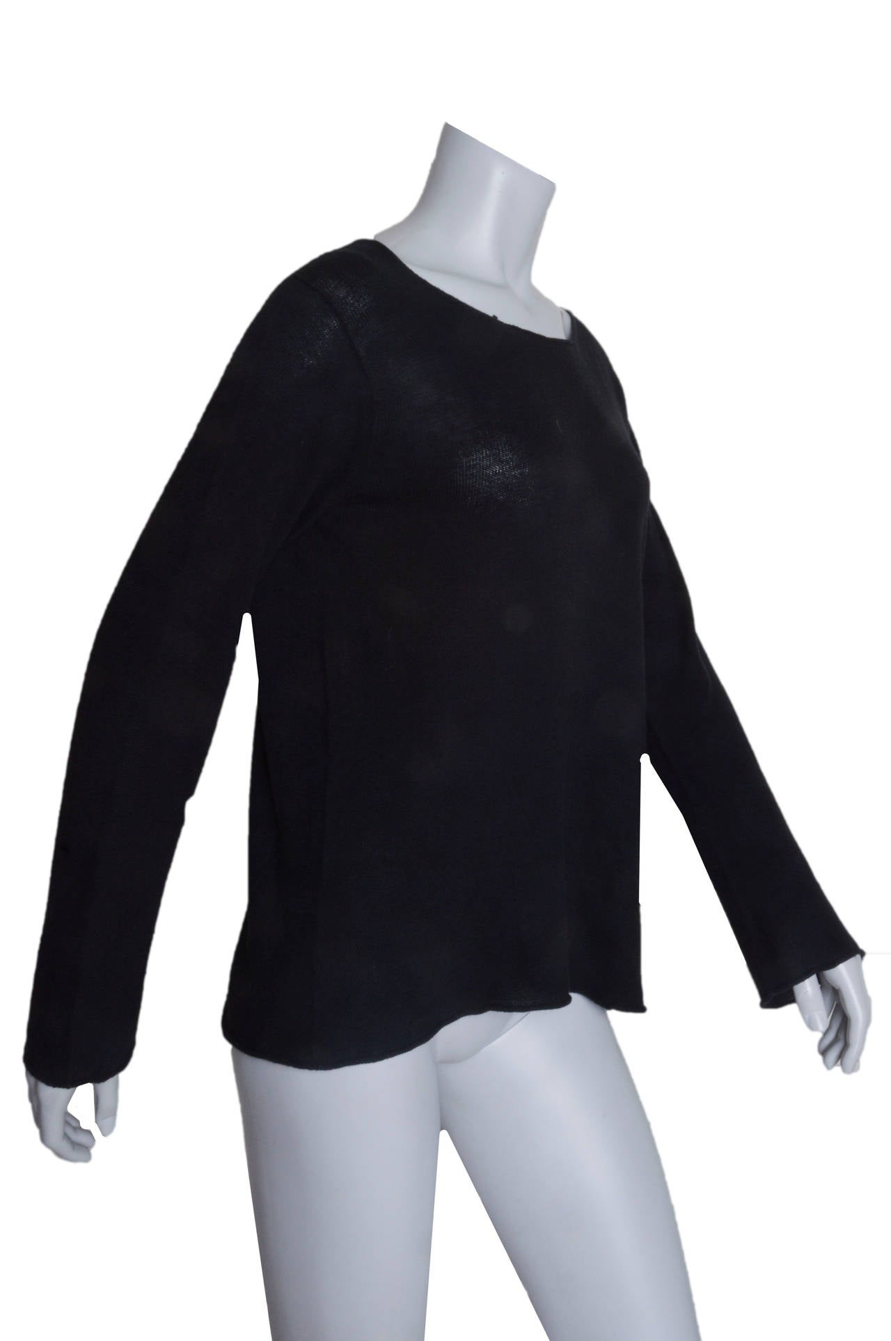 Comme Des Garcons Lightweight Black Sweater 2