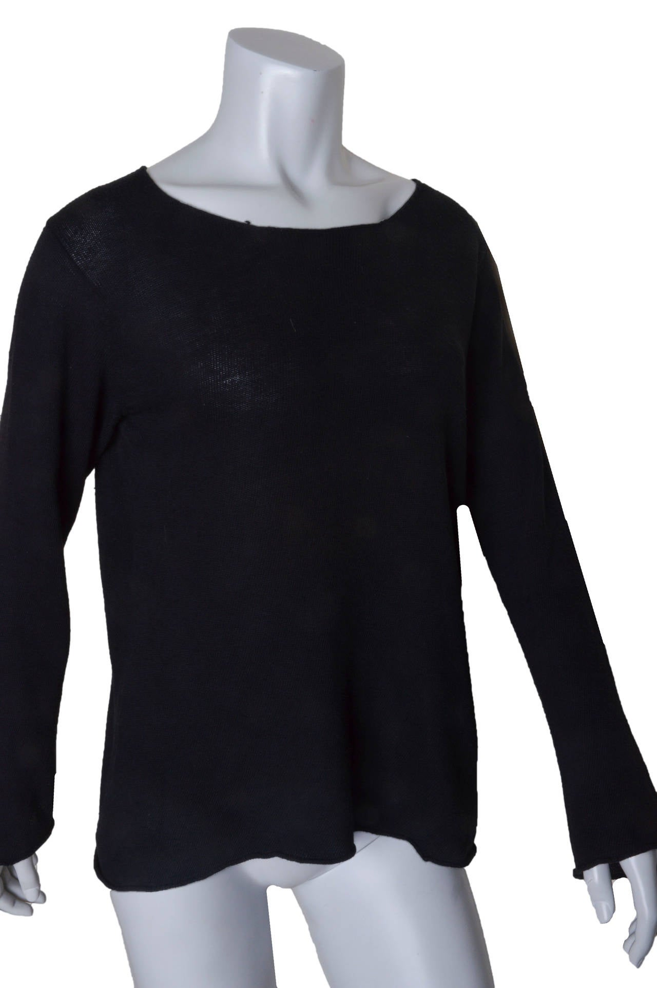 Comme Des Garcons Lightweight Black Sweater 5