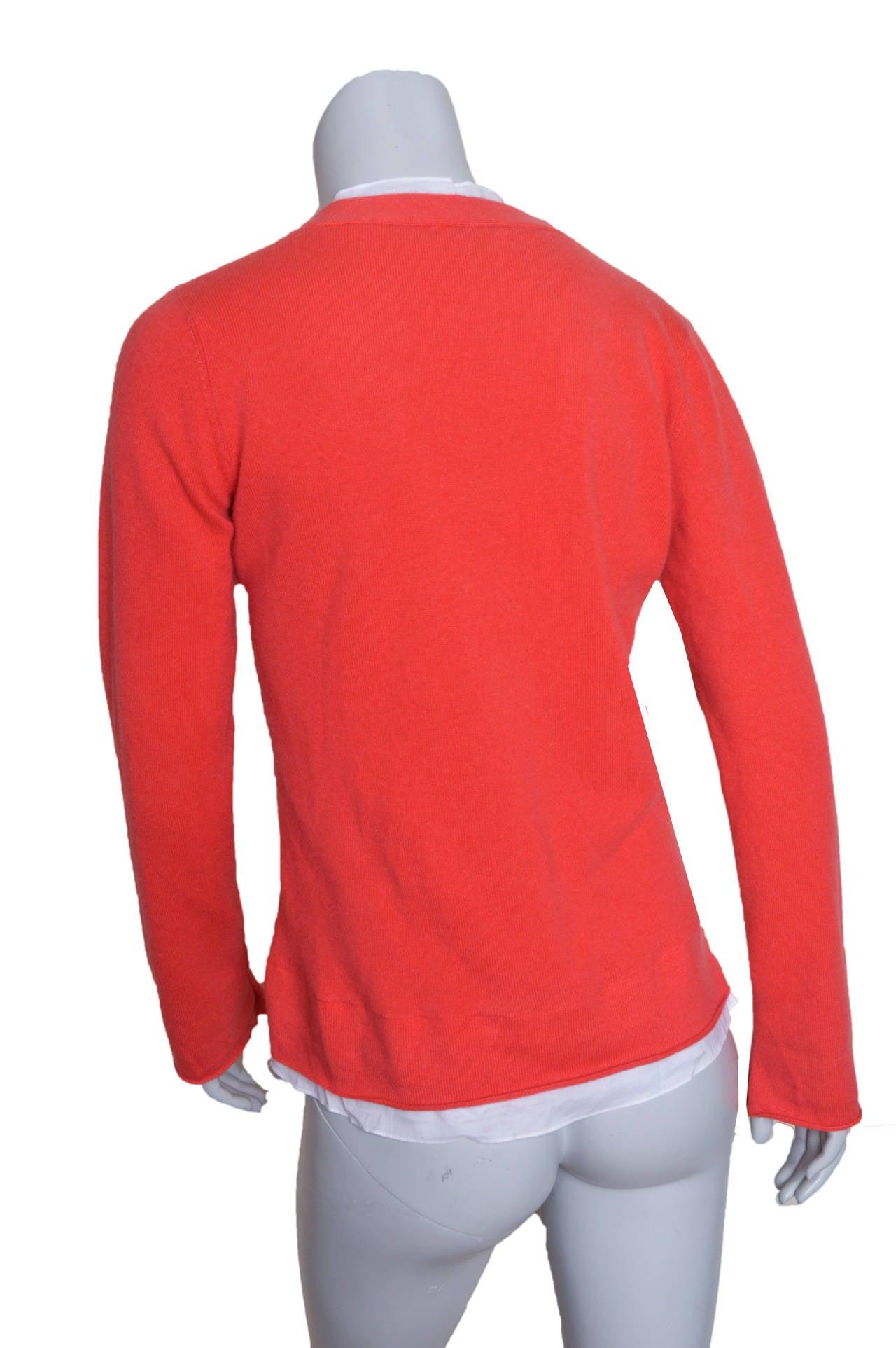 Red Brunello Cucinelli Orange Cashmere Sweater For Sale