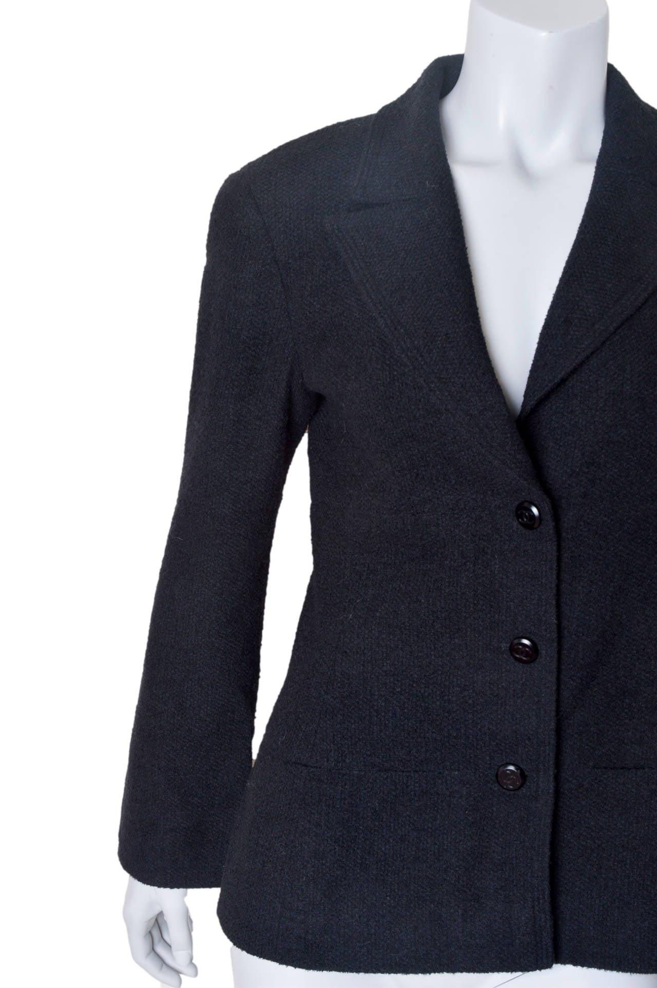 Chanel Black Boucle Blazer 4