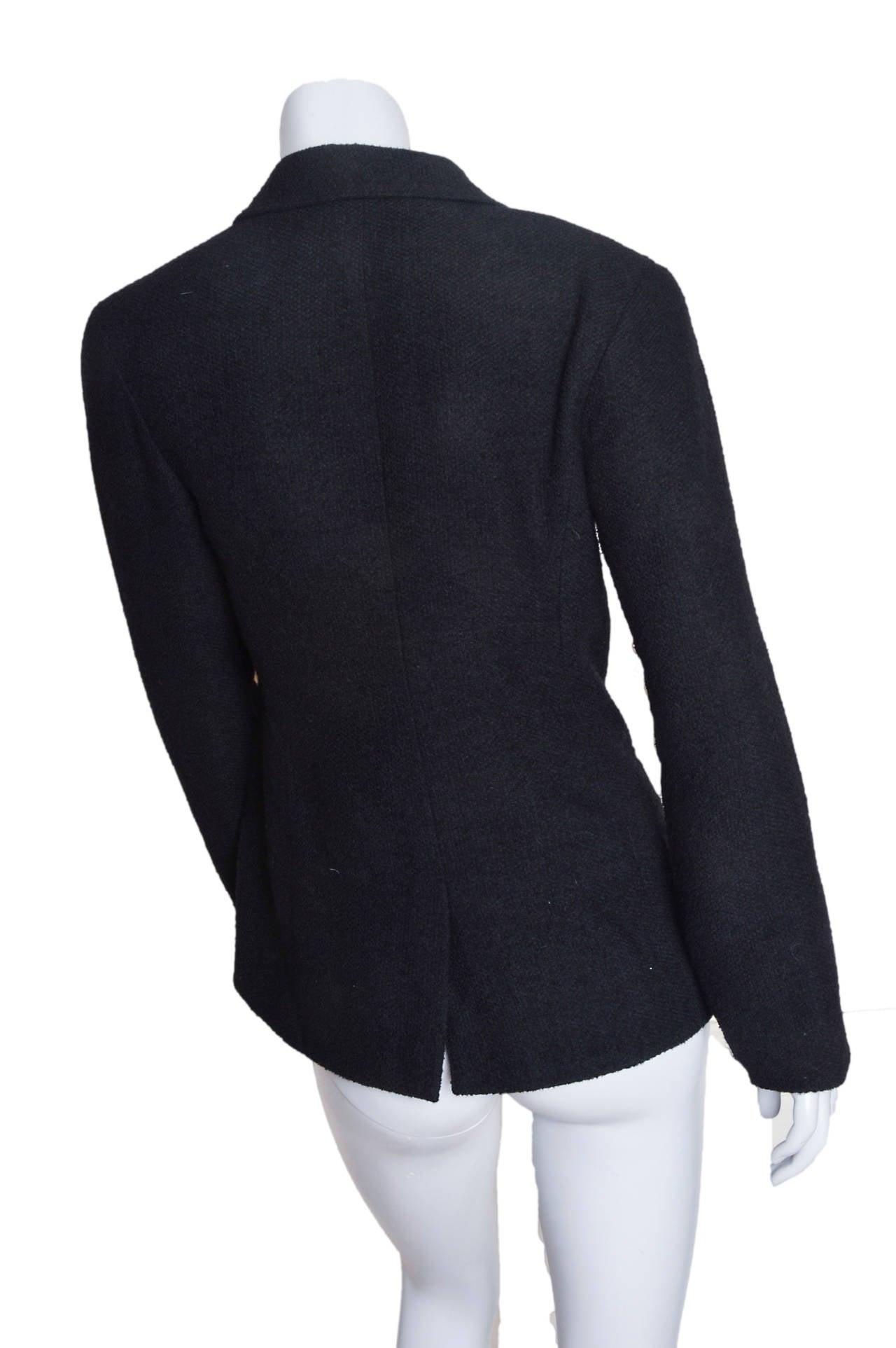 Chanel Black Boucle Blazer 3