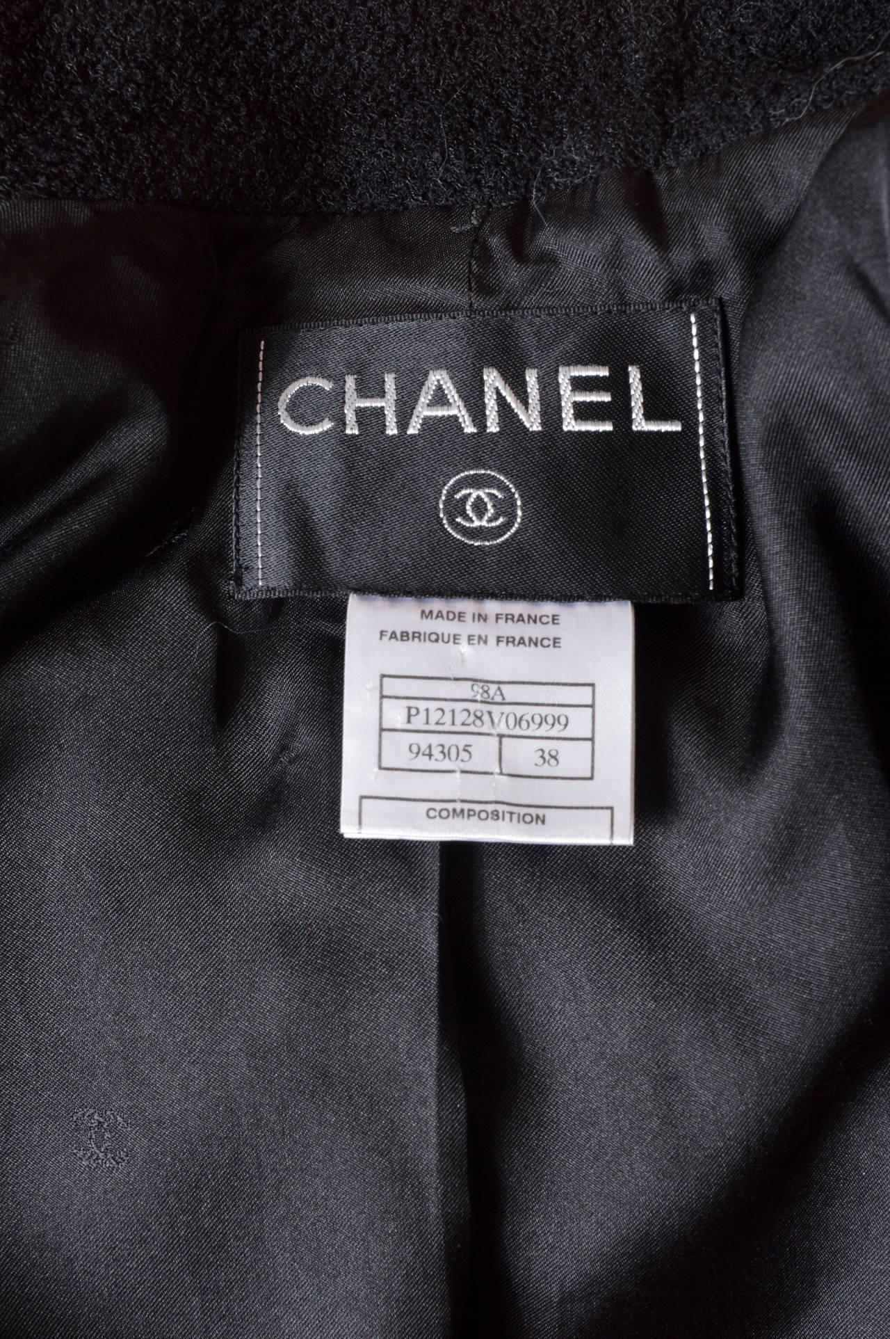 Chanel Black Boucle Blazer 5
