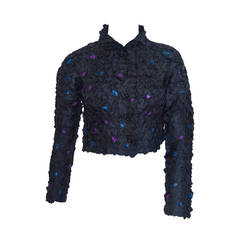 Issey Miyake Textured Embroidered Blouse