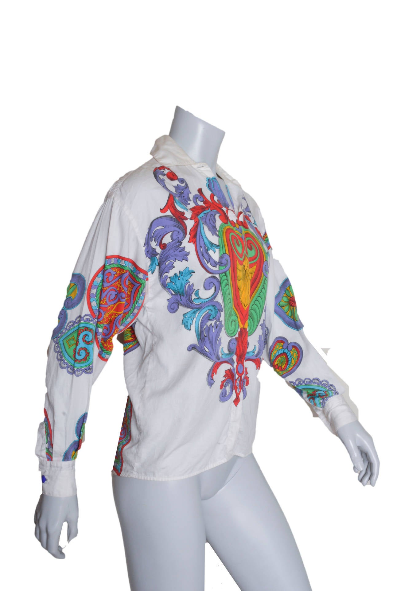 Vintage 1990's Gianni Versace Versus blouse.