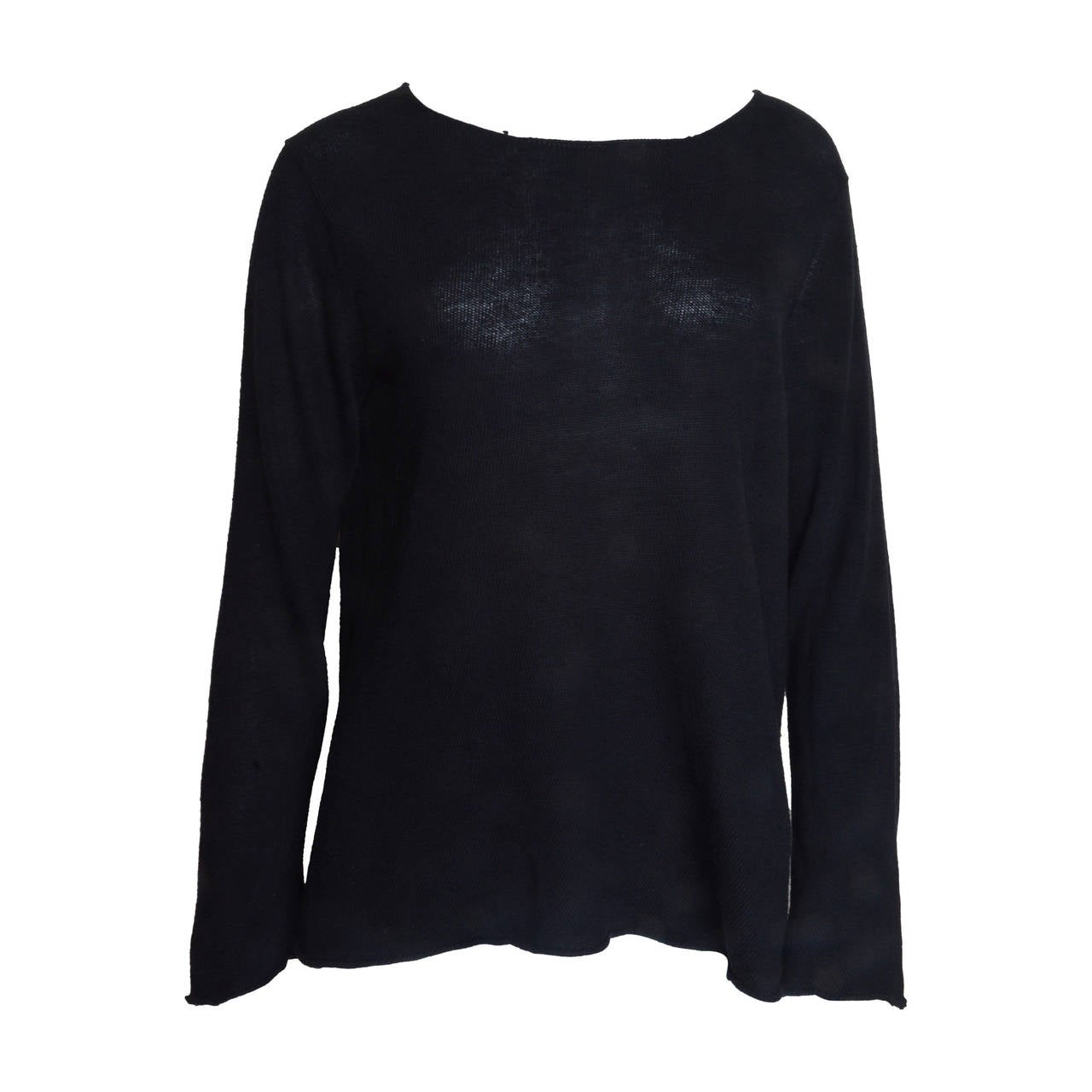 Comme Des Garcons Lightweight Black Sweater 1
