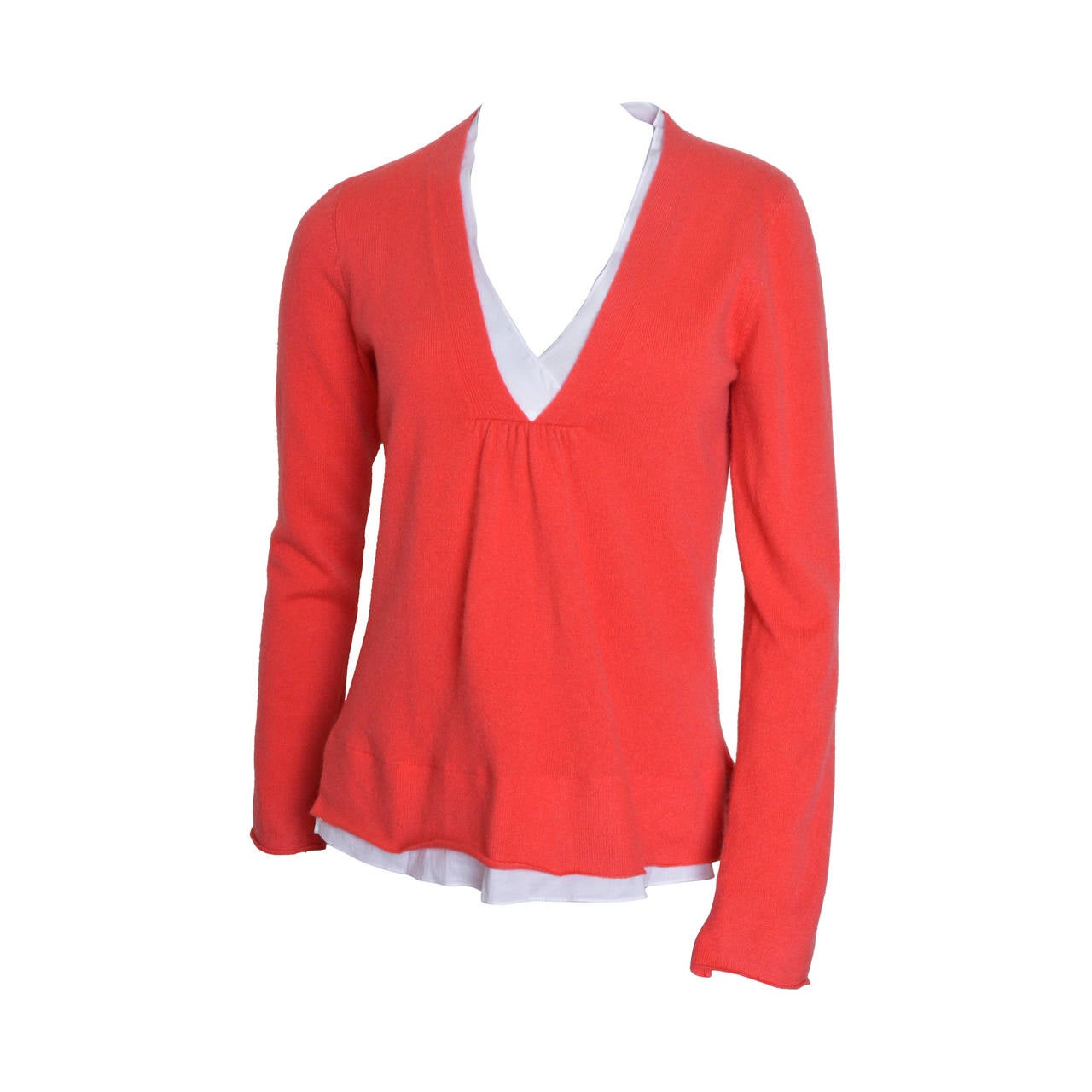 Brunello Cucinelli Orange Cashmere Sweater For Sale at 1stdibs