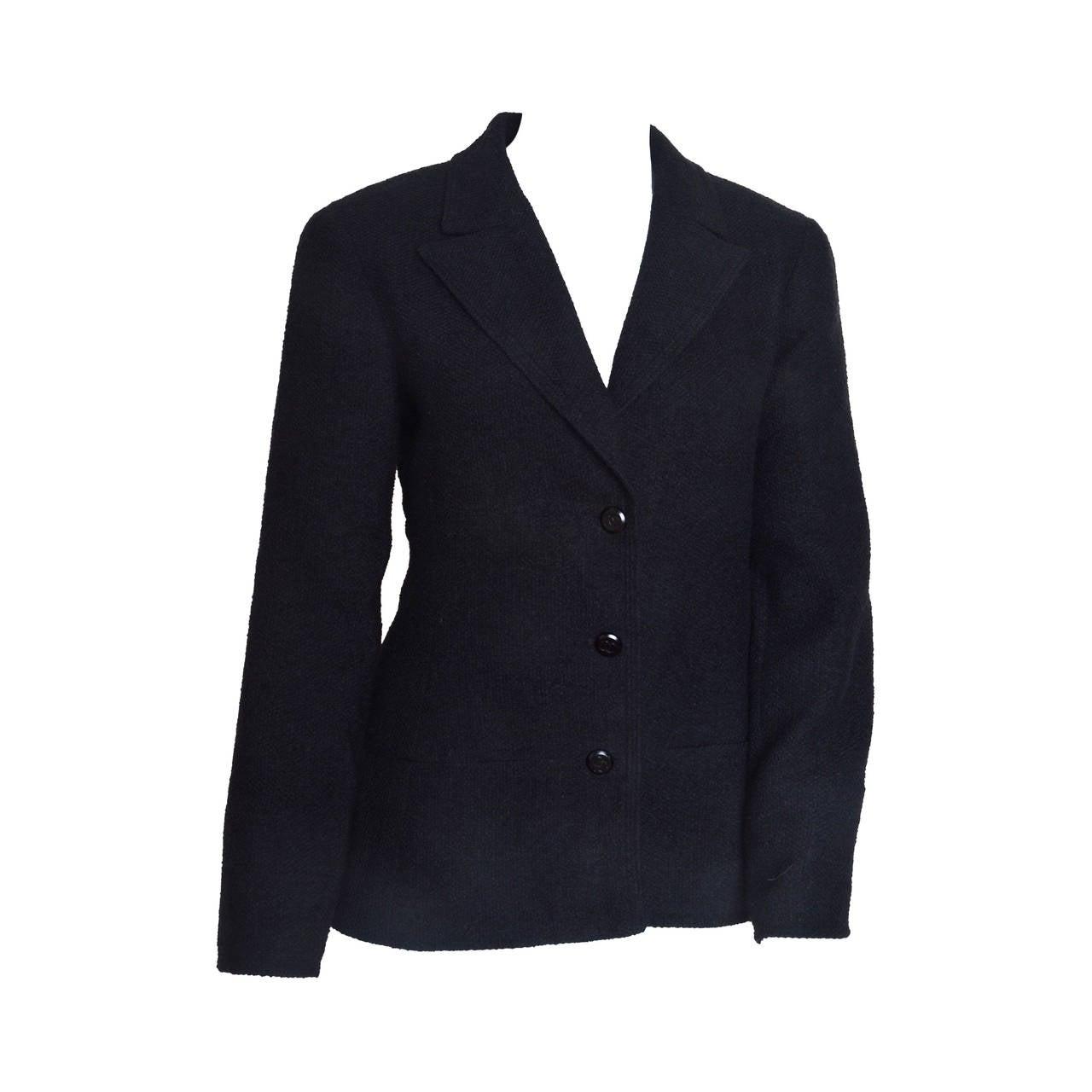 Chanel Black Boucle Blazer 1