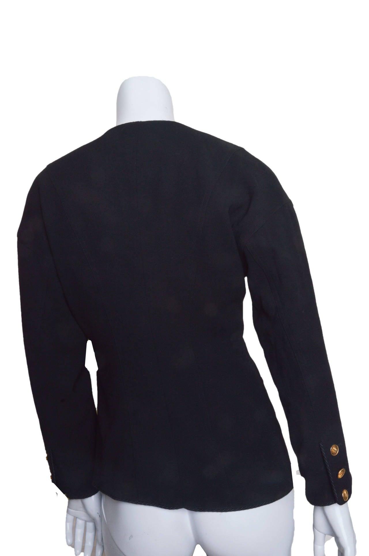 Women's Chanel Black Asymmetrical Jacket For Sale