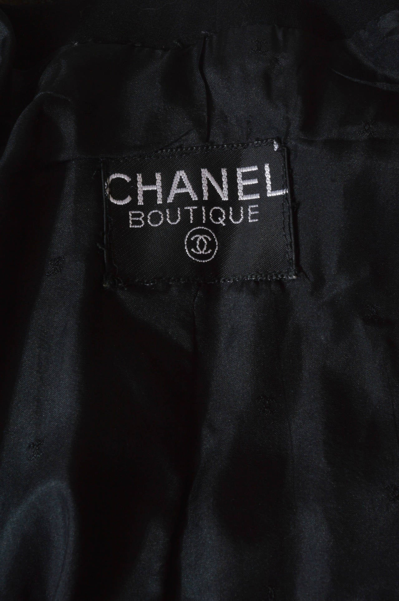 Chanel Black Asymmetrical Jacket 5