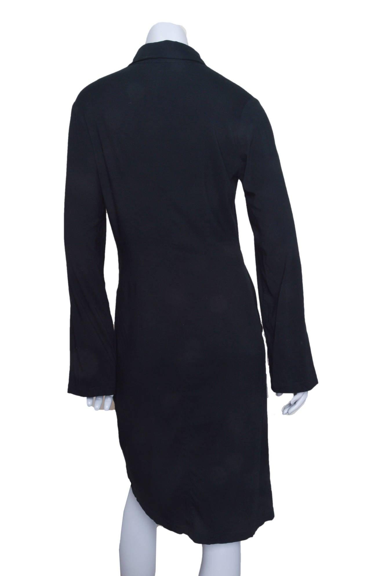 Ann Demeulemeester Asymmetrical Black Shirt Dress 3