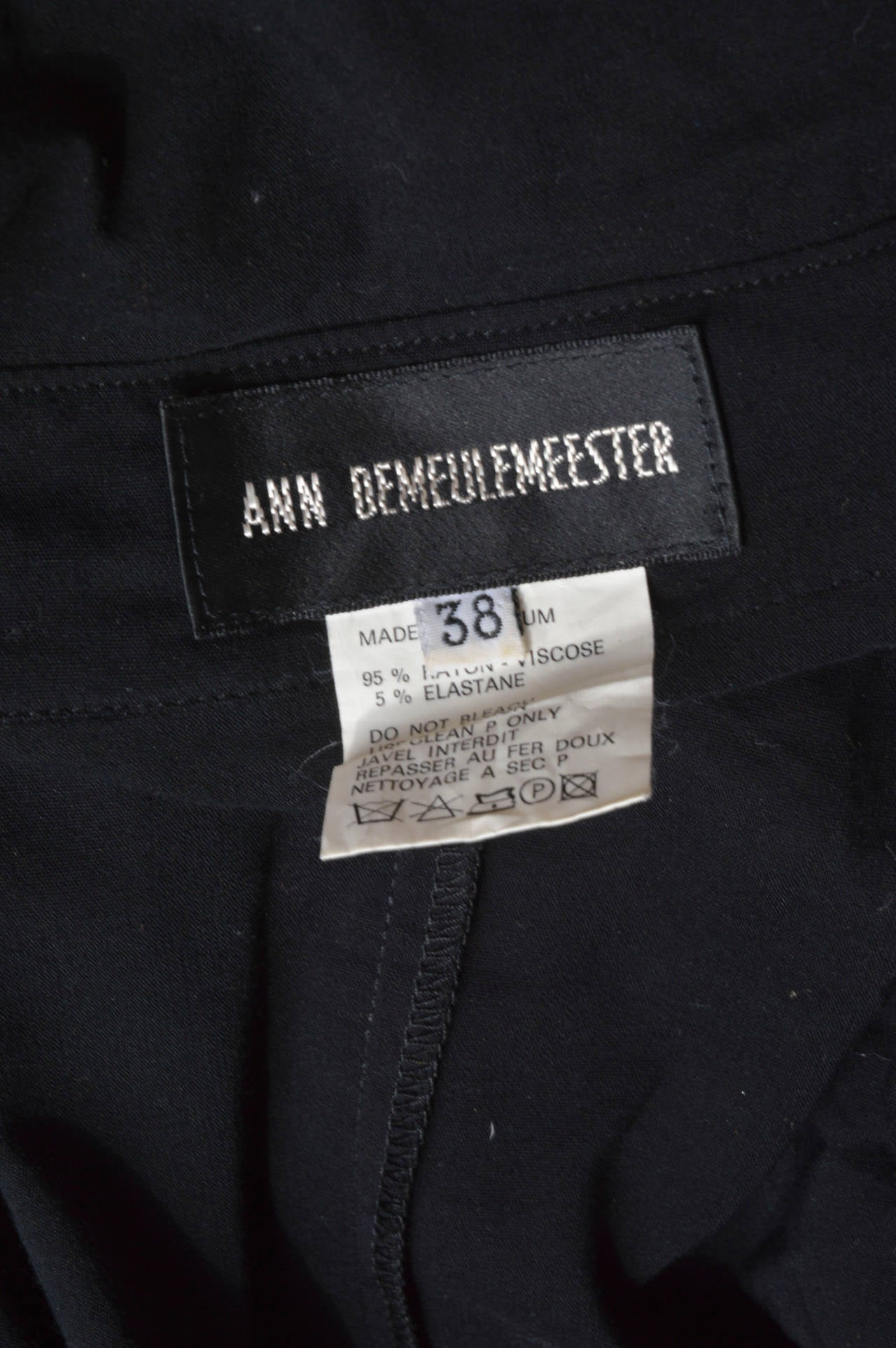 Ann Demeulemeester Asymmetrical Black Shirt Dress 6