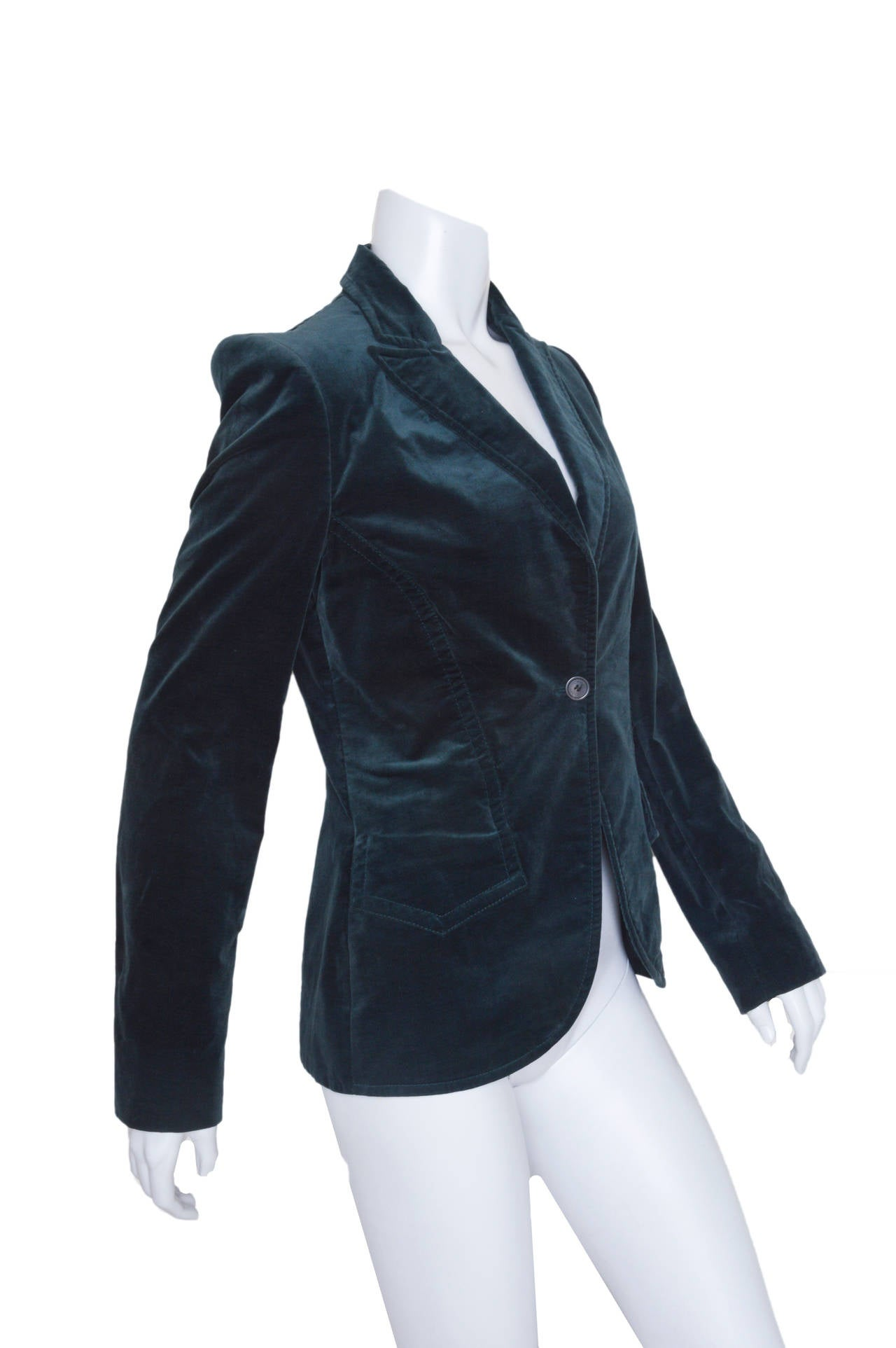 Luxurious Gucci velvet blazer.