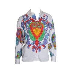 Versace Versus Scarf Print Hearts Blouse