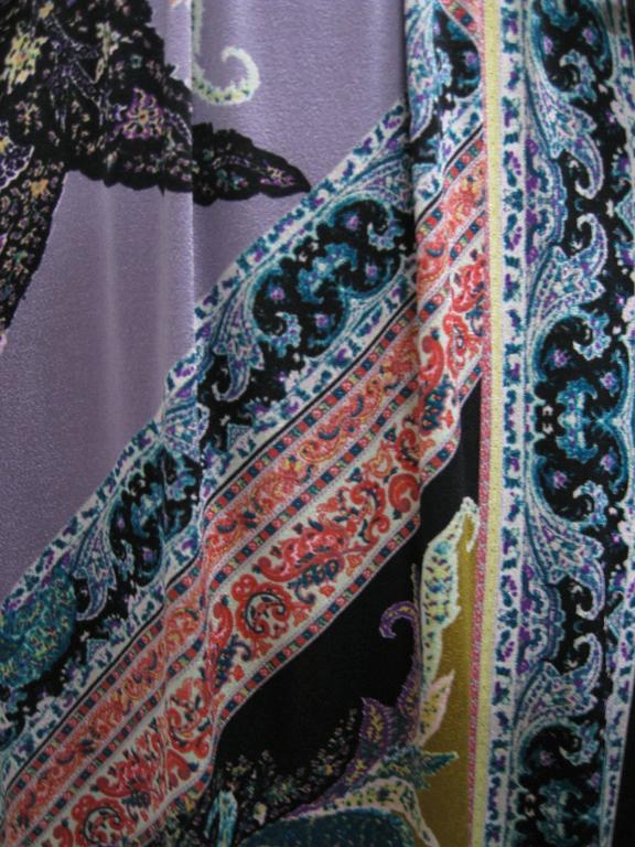Women's Etro Empire Waist Graphic Print Sleeveless Dress For Sale