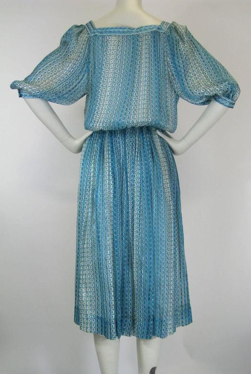 Jean Patou Silk Chiffon Print Dress 9