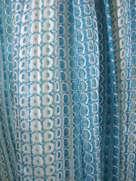 Jean Patou Silk Chiffon Print Dress 4