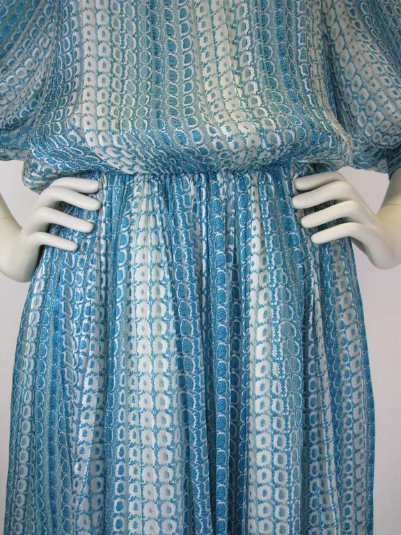 Jean Patou Silk Chiffon Print Dress 5
