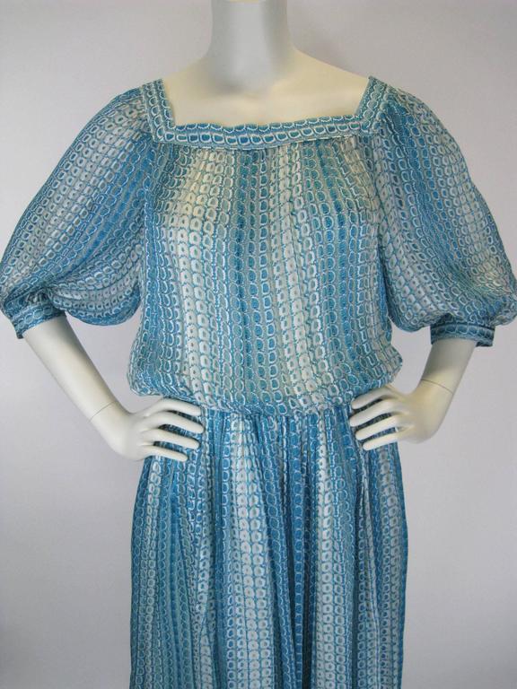 Jean Patou Silk Chiffon Print Dress 3