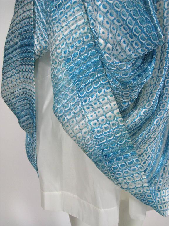Jean Patou Silk Chiffon Print Dress 7