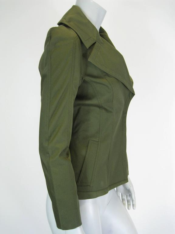Tom Ford Olive Green Fitted Jacket 2