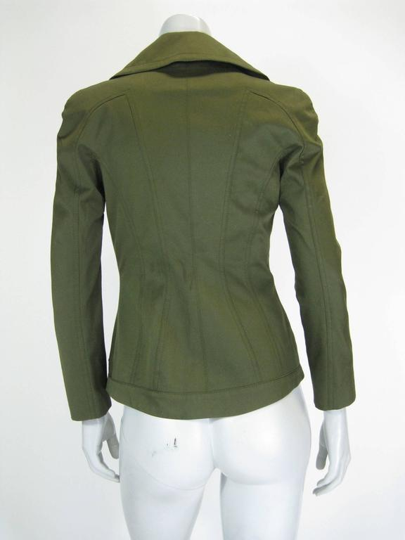 Tom Ford Olive Green Fitted Jacket 5