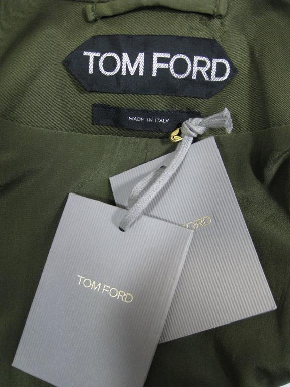 Tom Ford Olive Green Fitted Jacket 4