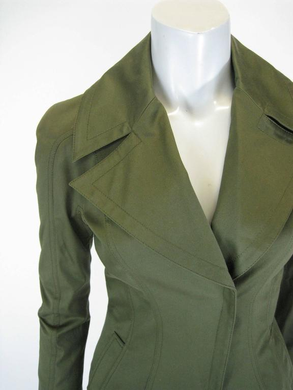 Tom Ford Olive Green Fitted Jacket 3
