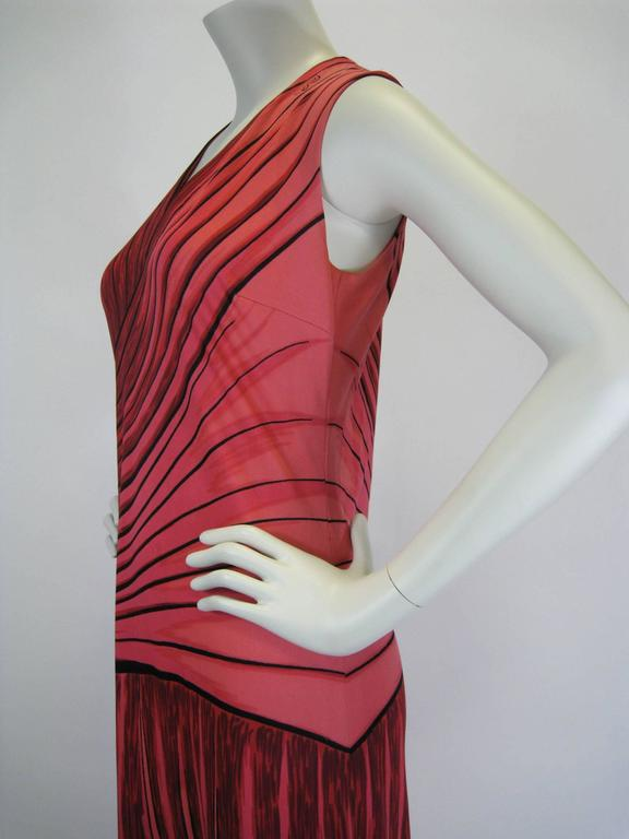 Roberta Di Camerino Trompe L'Oiel Dress In Good Condition For Sale In San Francisco, CA