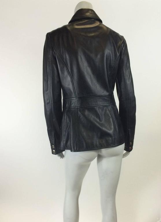 Dolce & Gabbana BLack Leather Jacket 5