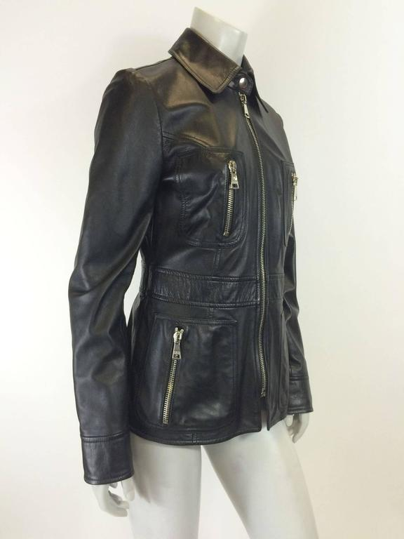 Dolce & Gabbana BLack Leather Jacket 2