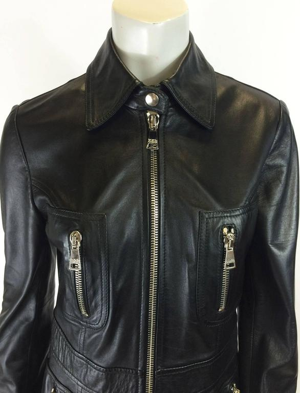 Dolce & Gabbana BLack Leather Jacket 3